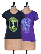 Combo Of 2 Half Sleeve Crew Neck Tees - Aloha