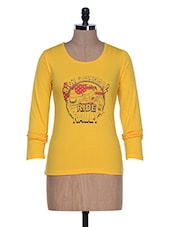 Yellow Full Sleeve Round Neck Tee - By