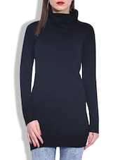 Black Acrylic Turtleneck Sweater - By