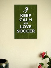Keep Calm And Love Soccer- Poster - Seven Rays
