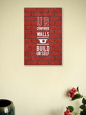 U Are Confined To Your Own Walls Poster - Seven Rays