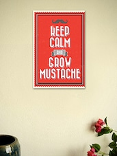 Keep Calm And Grow Moustache Poster - Seven Rays