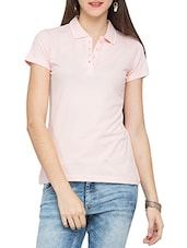 Baby Pink Cotton T-shirt - By