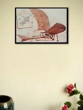 Flying Machine By Leonardo Da Vinci Framed Poster - Seven Rays