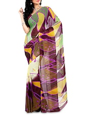Multicoloured Faux Georgette Printed Saree - By - 9656442