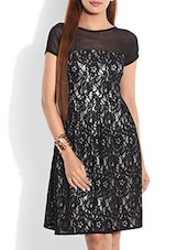 Black Laced Dress - By