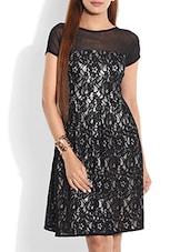 Black Laced Dress - By