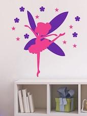 Dancing Fairy In Pink  Wall Decal - Chipakk