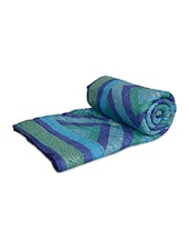Multicoloured Cotton Block Printed Double Bed Quilt - By