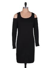 Long Sleeve Round Neck Bodycon Dress - MS@pretty