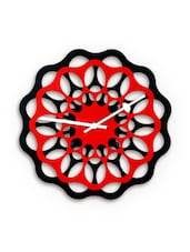 Red MDF  Analogue Wall Clock - By