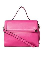 Pink Faux Leather Handbag - By