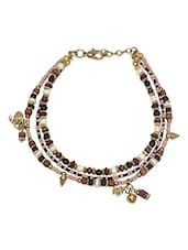 Multi Bead three layer Anklet -  online shopping for anklets and payals