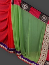 Gorgeous Multicoloured Embroidered Saree - Manvaa