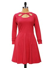 Dress With Creative Neck - Miss Chase