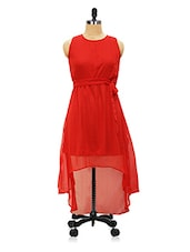 Red High Low Dress - Miss Chase