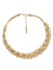 Gold Intermesh Choker Necklace - By