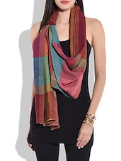 multicolored woollen stole -  online shopping for stoles