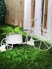 Metal Cycle White Big -  online shopping for Garden Decor