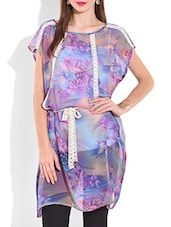 Blue Floral Printed Kurti - By