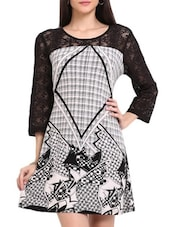 Black And White Printed Dress - Sweet Lemon