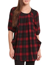 Red And Black Checked Tunic - Sweet Lemon