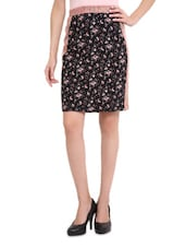 Black Printed Skirt - Sweet Lemon