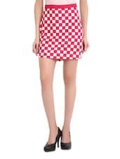 Pink Checked Skirt - Sweet Lemon