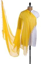 Yellow Chiffon Plain Dupatta - Dupatta Bazaar