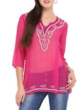 Bright Pink Tunic - Lubaba