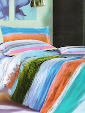 Lovely Blue Printed Bed Linen With Pillow Covers - Skap