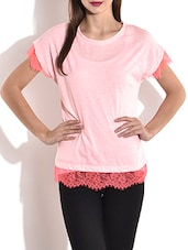 Light Pink Knitted Cotton Top - By
