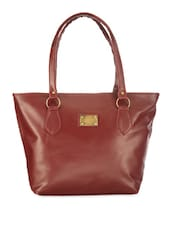 Solid Maroon Handbag - Utsukushii
