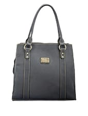Solid Black Formal Handbag - Utsukushii