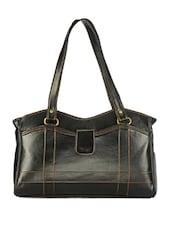 Plain Solid Black  Handbag - Utsukushii