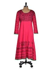 Pink Casual Printed Kurti - Ridhi Siddhi