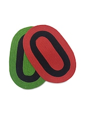 Set Of 2 Oval Cotton Doormats - By - 9701157