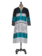 Color Block Printed Long Kurti - Ridhi Siddhi