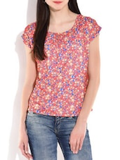 Pink Floral Printed Top - By