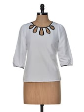 White Cut Out Top - Popnetic