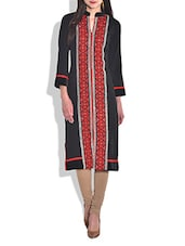 Black Acrylic Wool Kurta - By