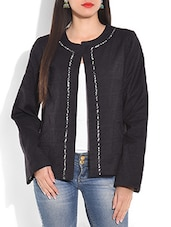 Black Long-sleeved Cotton Jacket - By