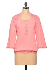 Pink Embroidered Cotton Top - LA ARISTA