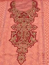 Dark Peach Semi-stitched Suit Set - Kvsfab