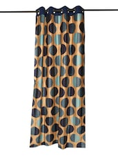 Blue Polka Dot Contemporary Curtain - Cortina