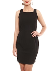 Black Cut-Out Back Short Dress - By