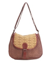 Brown Printed Casual Sling Bag - Art Forte