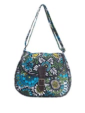Multicolored Floral Printed Sling Bag - Art Forte