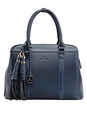 Tassel Detail Dark Blue Handbag - Diana Korr