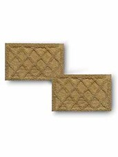 Beige Cotton Textured Set Of Two Bath Rugs - By